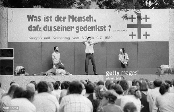 Theateraufführung auf dem Evangelischen Kirchentag 06 in Leipzig *Aufnahmedatum geschätzt*