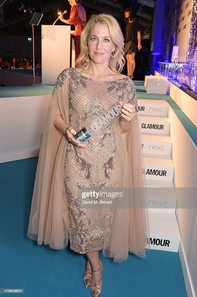 Theatre Actress of the Year winner Gillian Anderson attends the Glamour Women Of The Year awards at Berkeley Square Gardens on June 2, 2015 in London, England.