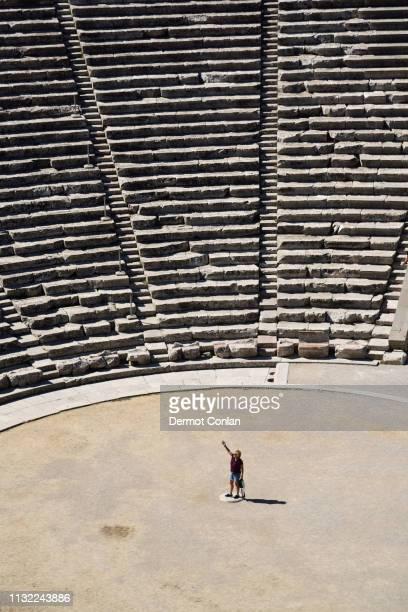 Theatre at the ruins of Epidaurus in Argolis, Greece