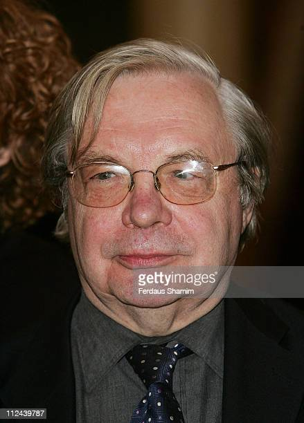Theatre Book Prize 2008 winner Michael Billington poses at the Theatre Royal on April 1, 2008 in London, England.