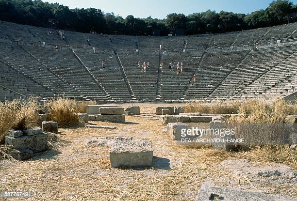 Theatre ca 360 BC by Polykleitos the Younger Epidaurus Peloponnese Greece Hellenistic civilisation 4th century BC