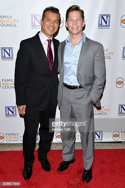 Theatre choreographer Sergio Trujillo and actor Jack Noseworthy attend Family Equality Council's 11th Annual Night at the Pier hosted by Gloria...