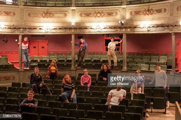 Theatre collective 'Made in Bristol' poses for a group picture at the Bristol Old Vic theatre on October 15, 2020 in Bristol, England. The 12 strong...