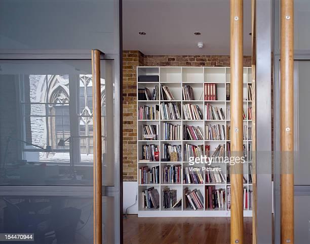 Theatre Designers Studio London United Kingdom Architect Bere Architects Theatre Designers Studio Bookcase With Glass Reflection