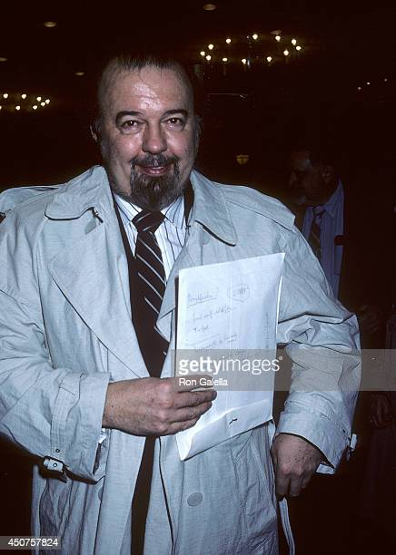 Theatre director Peter Hall attends 'The Imagemaker' Premiere Party on April 22 1986 at Regine's in New York City