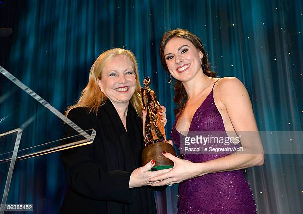 Theatre Director Susan Stroman and dancer Tiler Peck speak onstage at the 2013 Princess Grace Awards Gala at Cipriani 42nd Street on October 30 2013...