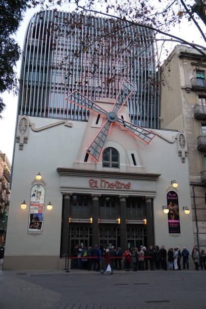 "Theatre ""El Molino"" at Dusk, Barcelona, Spain"