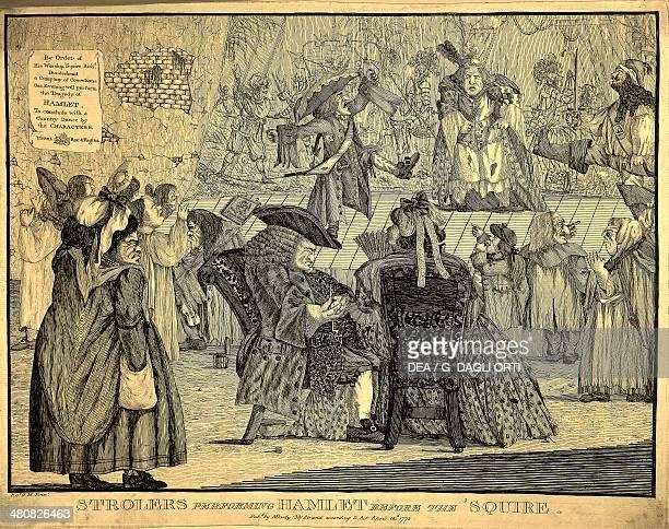 Theatre England 18th century Caricature of a theatre performance April 18 1772 Paris Bibliothèque Des Arts Decoratifs
