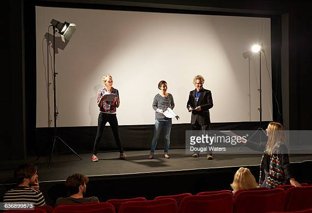 theatre group rehearsing on stage. - rehearsal stock pictures, royalty-free photos & images