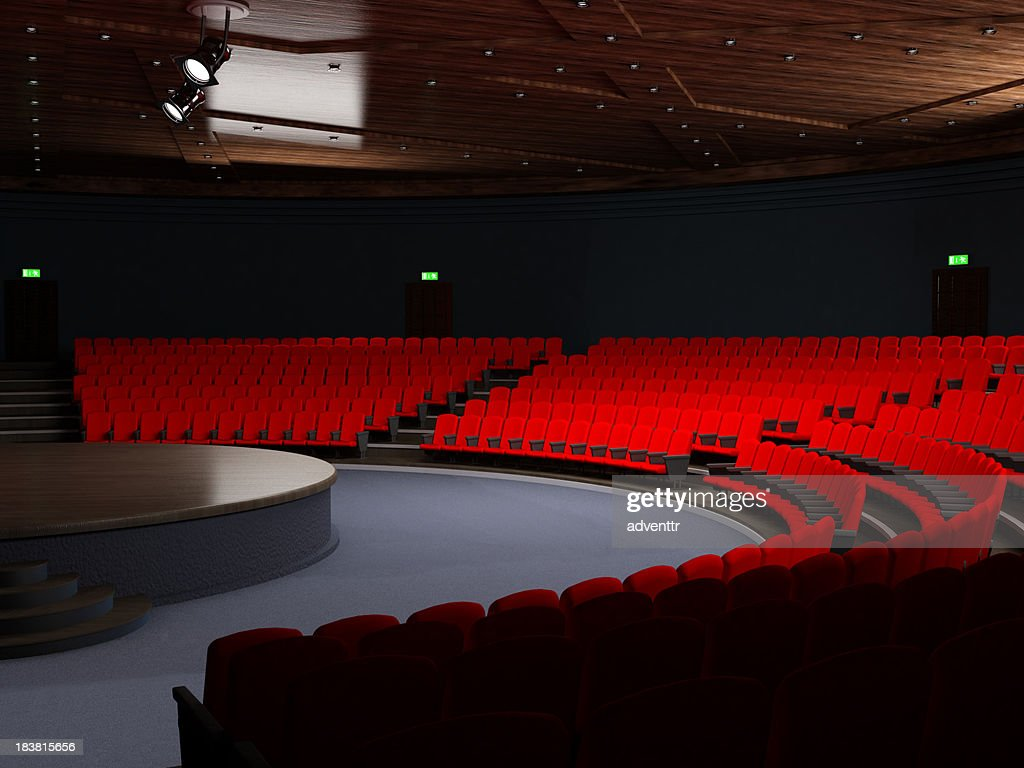Theatre hall with empty seats : Stock Photo