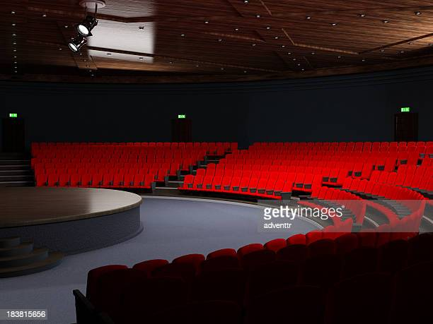 theatre hall with empty seats - opera stage stock pictures, royalty-free photos & images