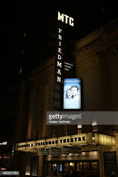 Theatre Marquee for 'Constellations' starring Jake Gyllenhaal and Ruth Wilson at the Samuel J Friedman Theatre on December 14 2014 in New York City