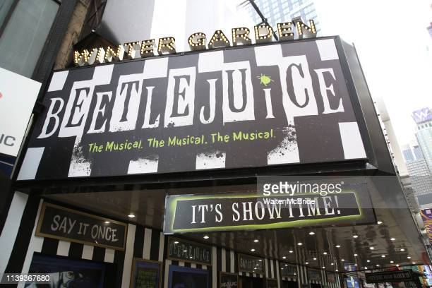 Theatre Marquee for the Broadway Opening Night Performance of Beetlejuice at The Winter Garden on April 25 2019 in New York City