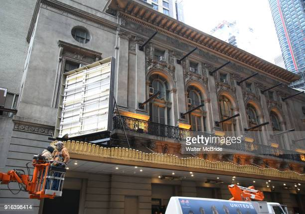 Theatre marquee installation for the 'Summer The Donna Summer Musical' starring LaChanze Ariana DeBose and Storm Lever on February 9 2018 at the...