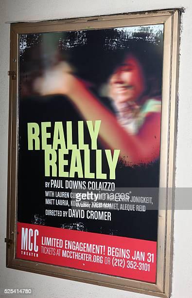 Theatre Marquee starring Lauren Culpper David Hull Evan Jonigkeit Matt Lauria Kobi Libii Zosia Mamet Aleque Reid for the Opening Night Performance of...