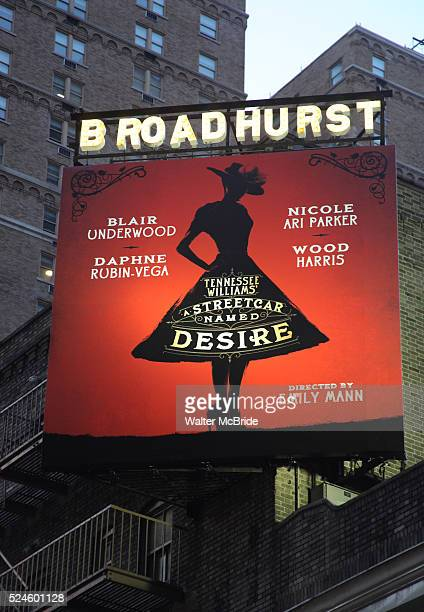 Theatre Marquee Tennessee Williams's Pulitzer Prizewinning masterpiece A Streetcar Named Desire Starring Blair Underwood in his Broadway debut as...