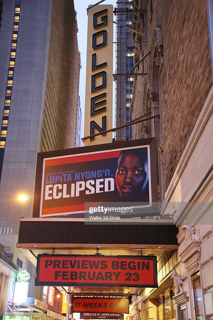 """""""Eclipsed"""" Broadway Marquee Unveiling : News Photo"""