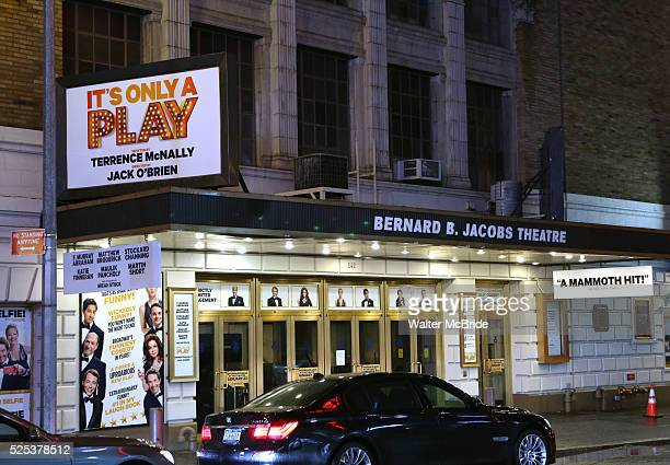 Theatre Marquee unveiling for 'It's Only a Play' at the Bernard B. Jacobs Theatre on January 18, 2014 in New York City.
