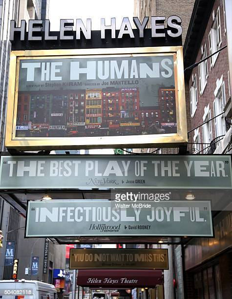Theatre Marquee unveiling for 'The Humans' at the Helen Hayes Theatre on January 8 2016 in New York City