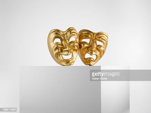 theatre masks - pedestal stock pictures, royalty-free photos & images