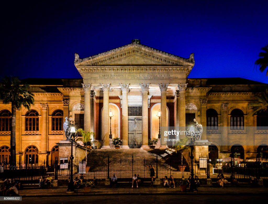 Theatre Massimo in Palermo, Sicily : Stock Photo