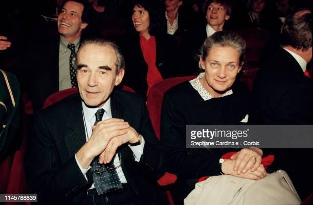 Theatre Master Class in Paris France on December 02 1996 Robert and Elisabeth Badinter