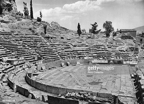Theatre of Dionysus Athens 1937 Ancient Greek amphitheatre at the foot of the Acropolis Illustration from Das Mittelmeer Landschaft Baukunst und...