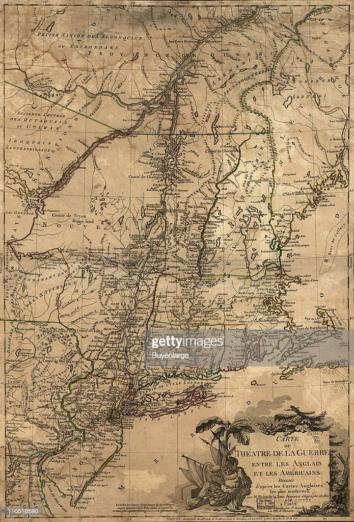 Theatre Of War In The Thirteen Colonies : News Photo