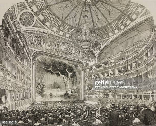 Theatre performance in the Royal Italian Opera House Covent Garden London illustration from the magazine The Illustrated London News volume XXXIII...