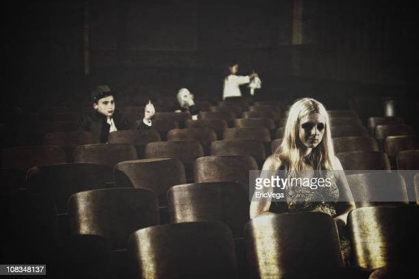 theatre - scary movie stock photos and pictures