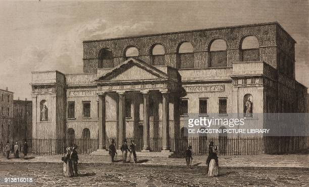 Theatre Royal Covent Garden London England United Kingdom engraving by Lemaitre from Angleterre Ecosse et Irlande Volume IV by Leon Galibert and...