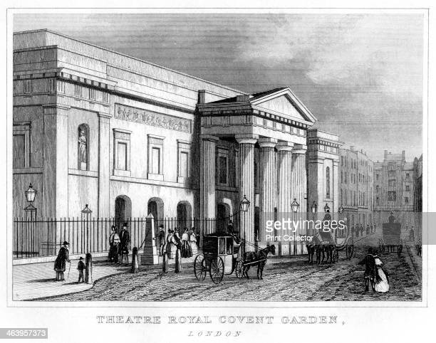 Theatre Royal Covent Garden Westminster London 19th century The second theatre to stand on the site built in 1808 by Robert Smirke after the previous...