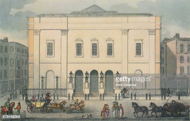 Theatre Royal Drury Lane Westminster London 1812 This building replaced the previous theatre that was destroyed by fire in 1809 From Vintage London...