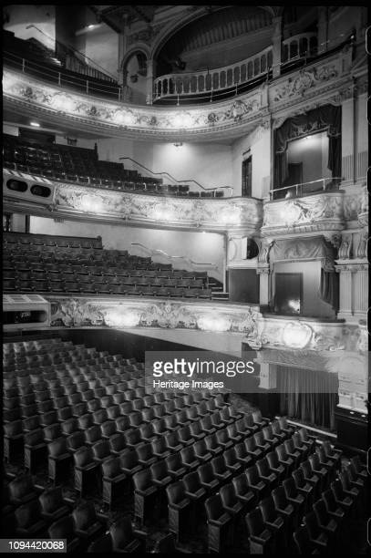 Theatre Royal Grey Street Grainger Town Newcastle Upon Tyne circa 1955circa 1980 An interior view of the Theatre Royal showing three tiers of...