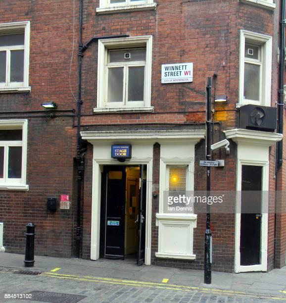 Theatre stage door in Winner Street London