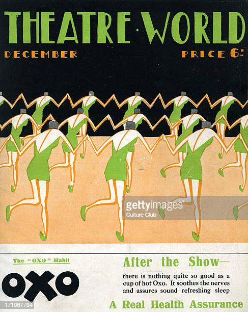 Theatre World cover December1926 Dancers tap dancing chorus line Graphics by Bovey