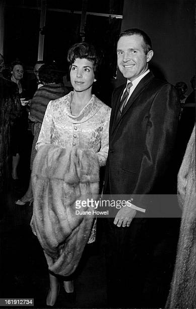 NOV 17 1966 NOV 18 1966 Theatregoers Attend Bonfils Opening Mr and Mrs Hebert Delaney Jr arrive for Thursday night's opening of Life with Father at...