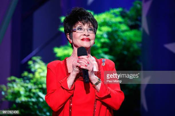 Theatrical icon and one of BroadwayÕs greatest triplethreat talents Chita Rivera onstage at the 2018 A Capitol Fourth rehearsals at US Capitol West...