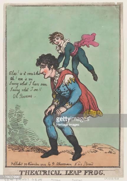 Theatrical Leap Frog, November 30, 1804. Artist Thomas Rowlandson.