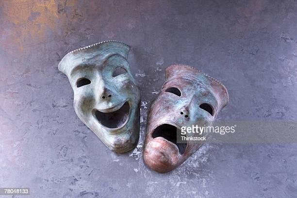theatrical masks - 悲劇の面 ストックフォトと画像