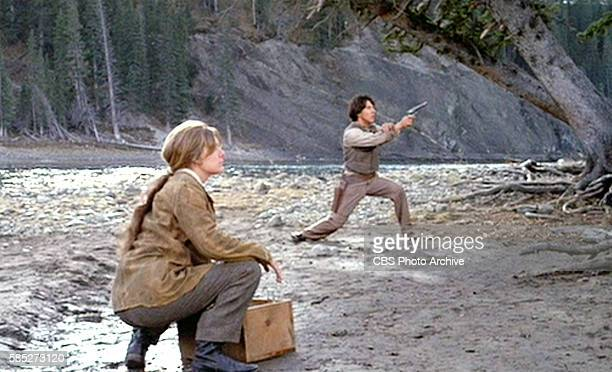 MAN theatrical movie originally released December 23 1970 The film directed by Arthur Penn Pictured left to right Carole Androsky and Dustin Hoffman...