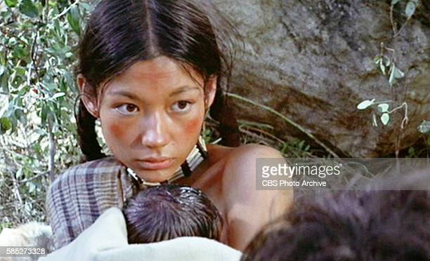 MAN theatrical movie originally released December 23 1970 The film directed by Arthur Penn Pictured Aimee Eccles a Cheyenne Frame grab