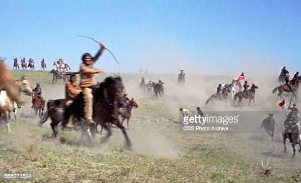 MAN theatrical movie originally released December 23 1970 The film directed by Arthur Penn Pictured attacks at the Battle of the Little Big Horn...