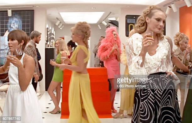 FOOLS theatrical movie originally released May 28 1969 Film directed by Stuart Rosenberg Pictured fashionable party guests at Ted Gunthers place...
