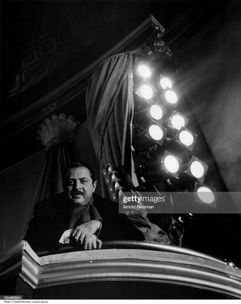 Theatrical producer David Merrick poses for portrait at the St. James Theater January 11, 1961 in New York City.