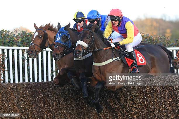 Theatrical Star ridden by JL Thomas leads the Holiday Inn Shepperton Amateur Riders' Handicap Steeple Chase during day one of the Betfair Tingle...
