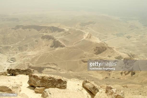 theban hills ethereal lunar landscape, egypt - argenberg ストックフォトと画像