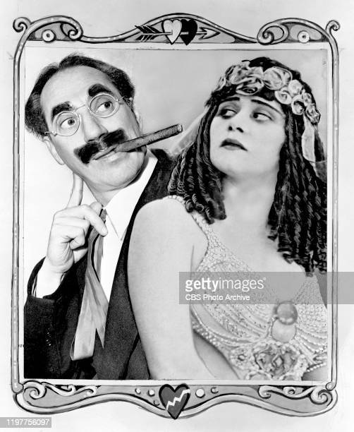 Theda Bara an original Hollywood silent screen glamour girl teams with Groucho Marx for CBS Radio on the Pabst Blue Ribbon Town a comedy variety show...