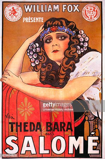 Theda Bara on Movie Poster for the Silent Movie Salome 1918
