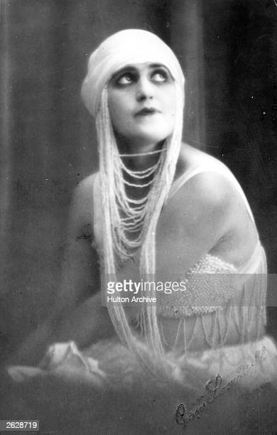 Theda Bara the Hollywood actress and the first screen star to be called a 'vamp'